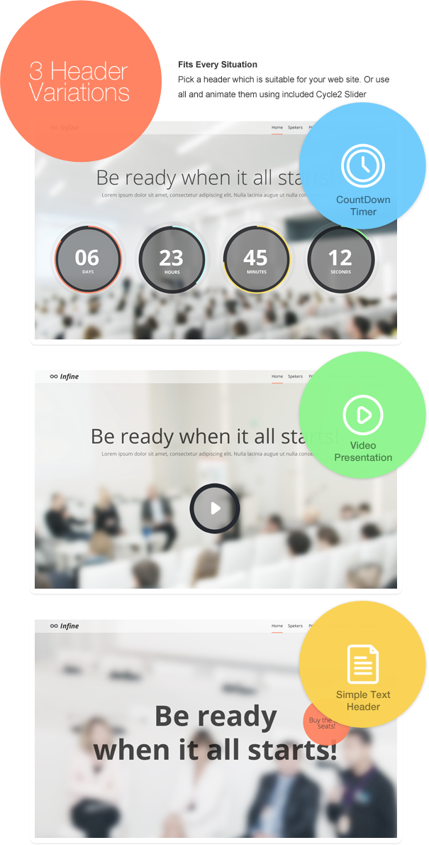 Infine - One Page Conference & Event Drupal Theme