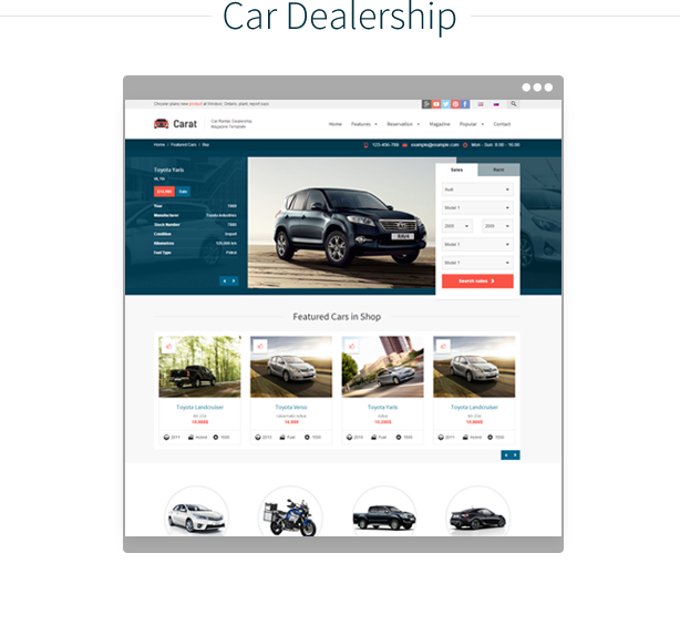 Carat - Responsive Automotive HTML Template