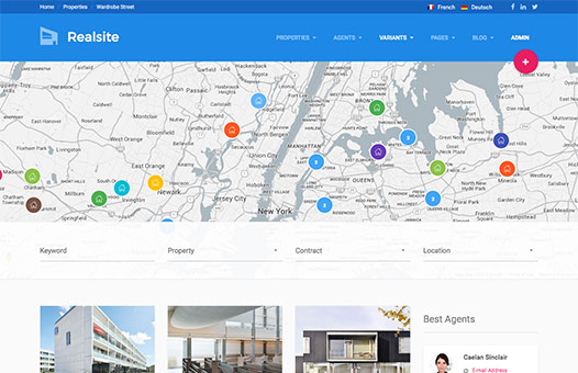 Real estate html template realsite google map header version pronofoot35fo Image collections