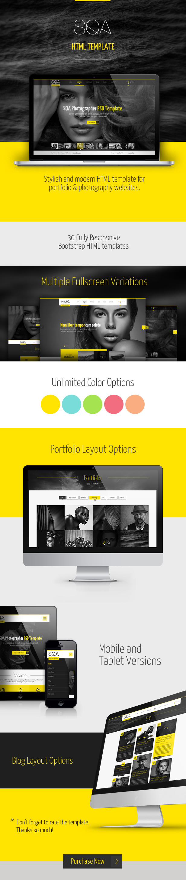 SQA - Portfolio & Photography Template