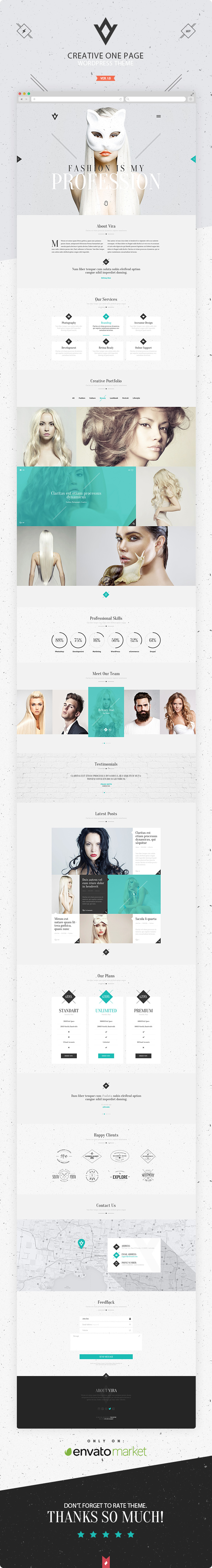 VIRA - Creative One Page WordPress Theme